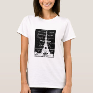 Paris Ladies T-shirt Black
