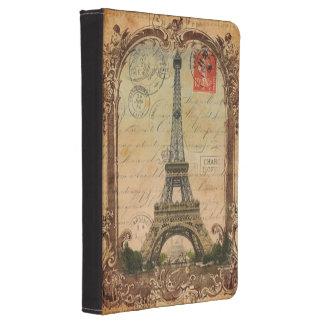 paris landscape vintage eiffel tower decor kindle touch case