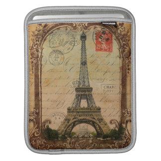paris landscape vintage eiffel tower decor sleeve for iPads