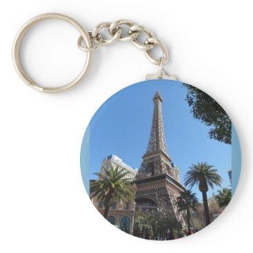 Beach Themed Paris Las Vegas Hotel & Casino Keychain