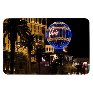 Paris Las Vegas Nights Flexible Magnet #1
