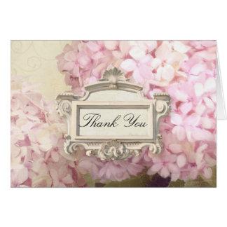 París le agradece observar se ruboriza arte rosado tarjeta pequeña