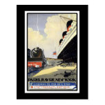 Paris, Le Havre, New York Vintage Travel Postcard