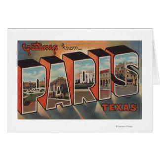 París, letra ScenesParis, TX de TexasLarge Felicitación