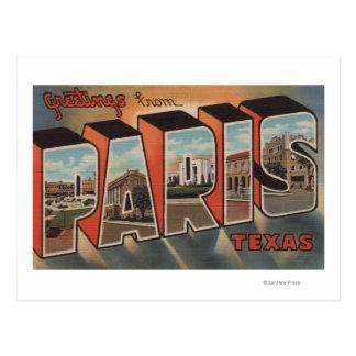París, letra ScenesParis, TX de TexasLarge Postal