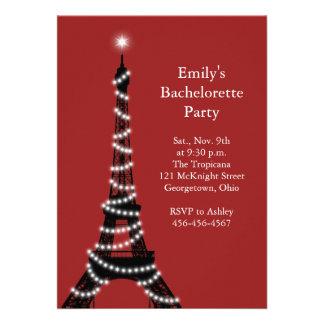 Paris Lights Bachelorette Party Invitation