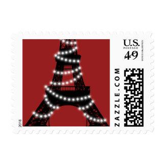 Paris Lights Stamp (red)