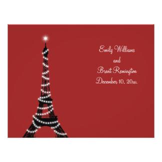 Paris Lights Wedding Program