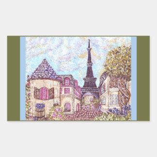 Paris Like Pointillism with Eiffel Tower sticker