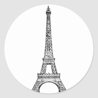 PARIS LINE CLASSIC ROUND STICKER