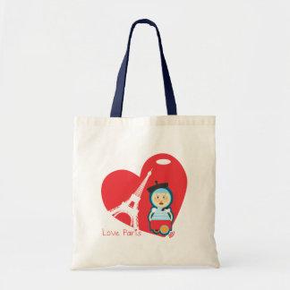 Paris - Little Lady Drama Canvas Bags