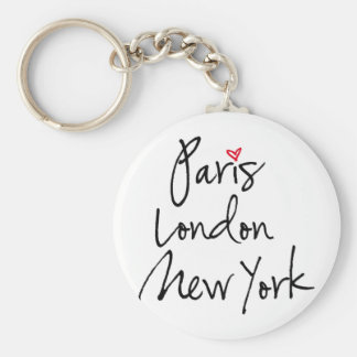 Paris, London, New York Keychain