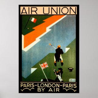 Paris - London - Paris by Air Print