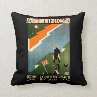Paris - London - Paris by Air Throw Pillow