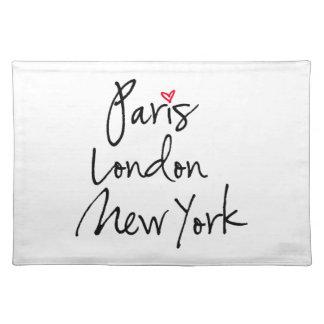París, Londres, Nueva York Manteles
