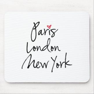 París, Londres, Nueva York Tapete De Raton