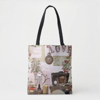 Paris Love books watch trunk lamp fan neutral Tote Bag