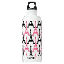 Paris Love, Eiffel Tower Aluminum Water Bottle
