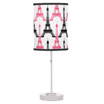 Paris Love, Eiffel Tower in black and pink, lamps