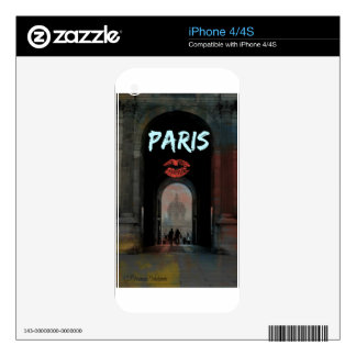 PARIS LOVE louvre Decals For The iPhone 4S