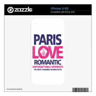 paris love skin for iPhone 4S