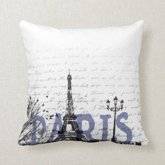 Paris love throw pillow