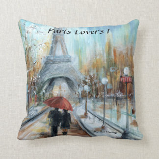 Paris Lovers I Throw Pillow