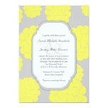 Paris Loves Yellow Flowers Affordable Wedding Personalized Invite
