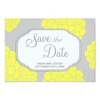 Paris Loves Yellow Flowers Save the Date Budget Personalized Invitation