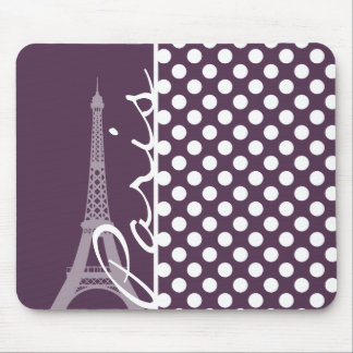 París; Lunares de la púrpura de la berenjena Tapete De Ratones