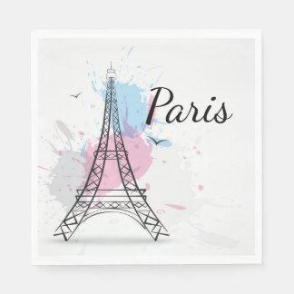 Paris Luncheon Paper Napkins