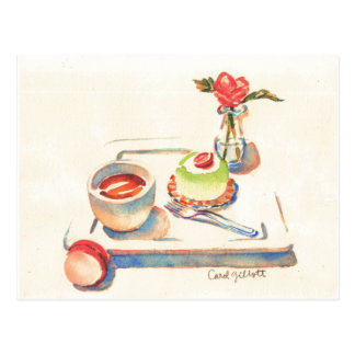 Paris Macaron watercolor Post Cards