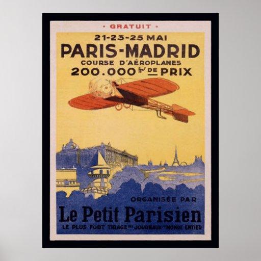 Paris-Madrid-Le-Petit Parisian Posters