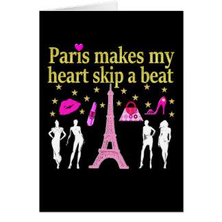 PARIS MAKES MY HEART SKIP A BEAT CARD