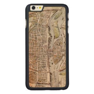 PARIS MAP, 1581 CARVED MAPLE iPhone 6 PLUS SLIM CASE