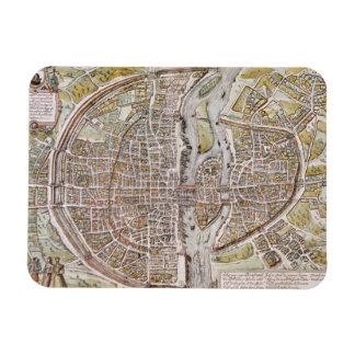 PARIS MAP, 1581 MAGNET
