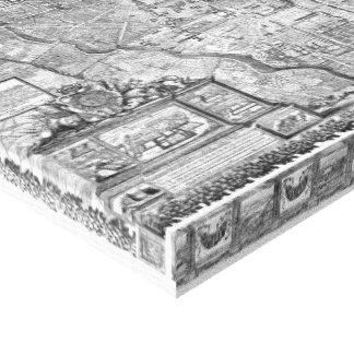 Paris Map 1652 Canvas Print