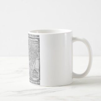 Paris Map 1652 Coffee Mug