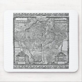 Paris Map 1652 Mouse Pad