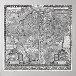 Paris Map 1652 Print