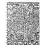 Paris Map 1652 Spiral Note Books