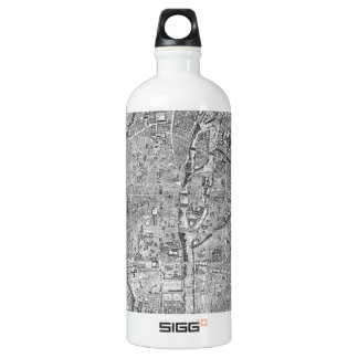 Paris Map 1652 Water Bottle