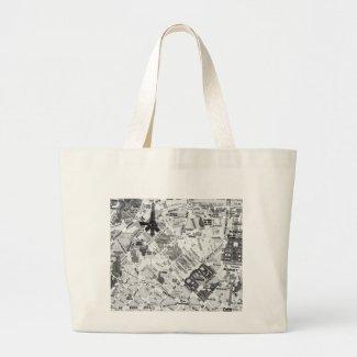 paris map bag