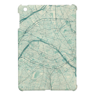 Paris Map Blue Vintage Watercolor iPad Mini Cases