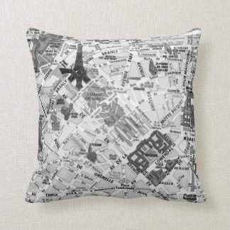 Paris Map pillow