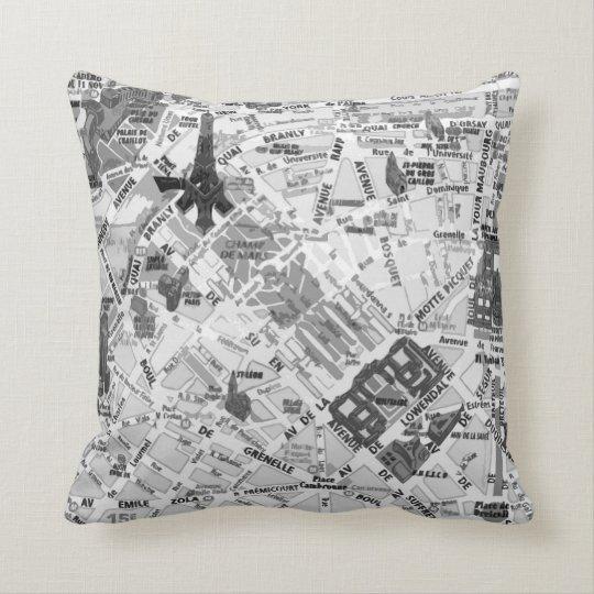 Paris Map pillow