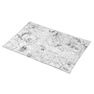 Paris Map Placemats