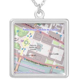 Paris Map Women's Necklace