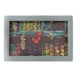 Paris Market Fruit Display TomWurl Belt Buckle