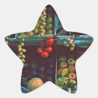 Paris Market Fruit Display TomWurl Star Sticker